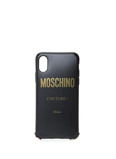 Moschino iPhone XS Aksesuar Siyah